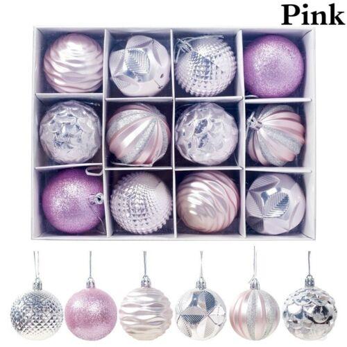12Pcs//Box Christmas Tree Decoration Balls Big Xmas Decal Balls Ornament 6-8CM AW
