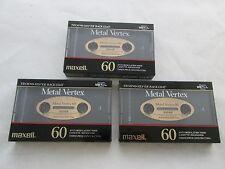 (Lot of 3) Maxell Metal Vertex 60 min Position Tape for Cassette Deck IV 90