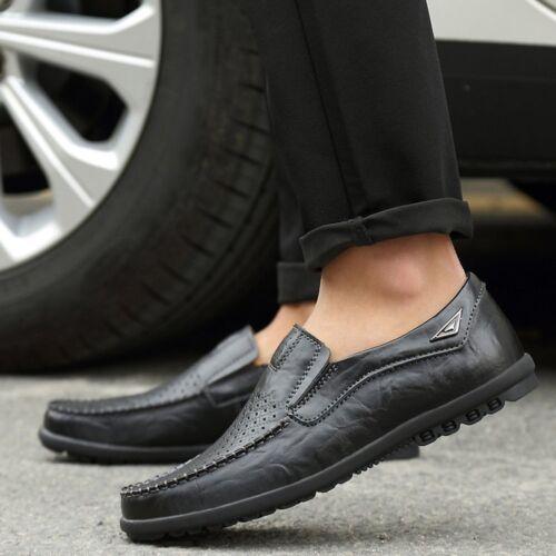 Nouvelle Cuir Confortables Glisser Chaussures Mocassins Appartements Masculine PHg6W1p