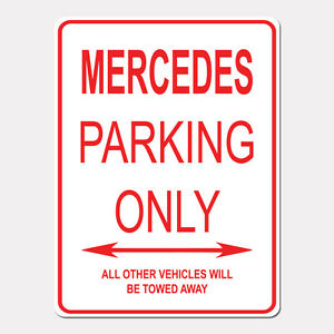 MERCEDES-Parking-Only-Street-Sign-Heavy-Duty-Aluminum-Sign-9-034-x-12-034