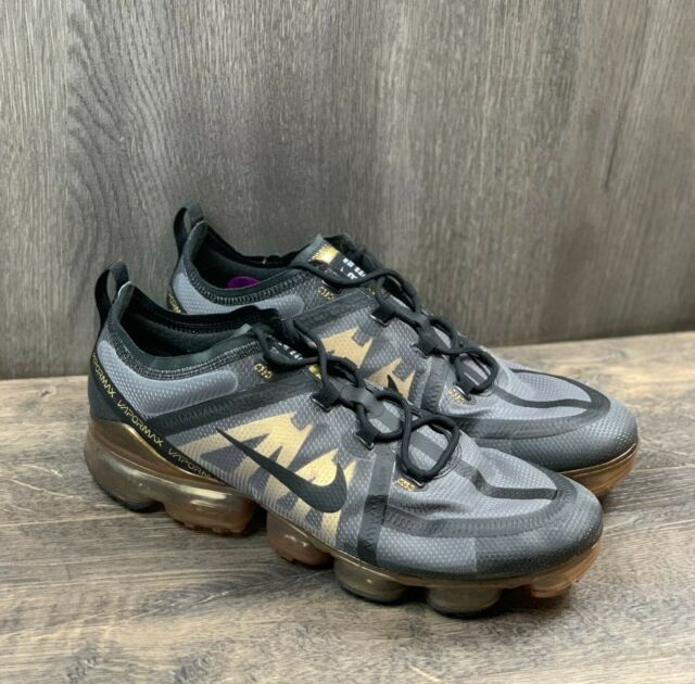 Nike Air Vapormax 2019 Men's Sneakers SIZE 12 Shoes AR6631-002 Black Gold