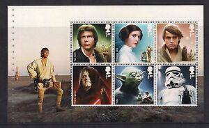GB-2015-Star-Wars-Prestige-Stamp-Booklet-Pane-5-ex-DY15-Unmounted-Mint