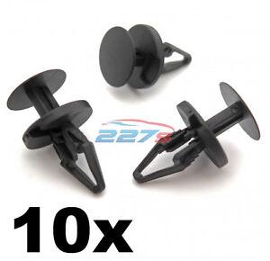 10x-Ford-Adorno-Plastico-Clips-PARACHOQUES-Clips-de-forro-de-boveda-de-rueda-de-separador-y