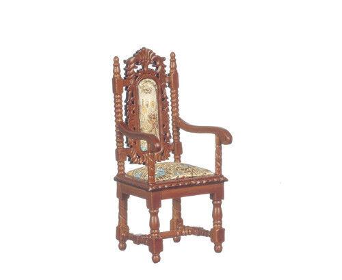 Calidad 12th Muebles de Casa de Muñecas Charles II P6034 Sillón