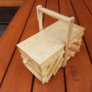 Vintage Long Pine Box Antique Furniture