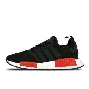 Details zu Adidas NMD R1 core black red BB1969 US 10,5 EU 44,5 44 23 UK 10 Super Selten