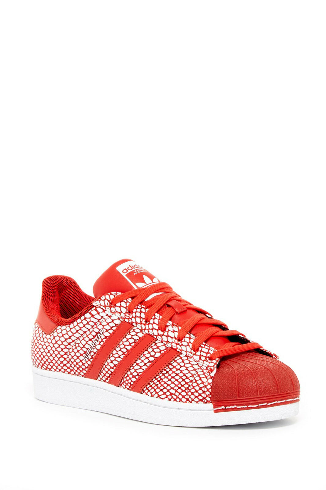ADIDAS SUPERSTAR SNAKE PACK FASHION LOW MEN SHOES RED/WHITE S82730 SIZE 13 NEW
