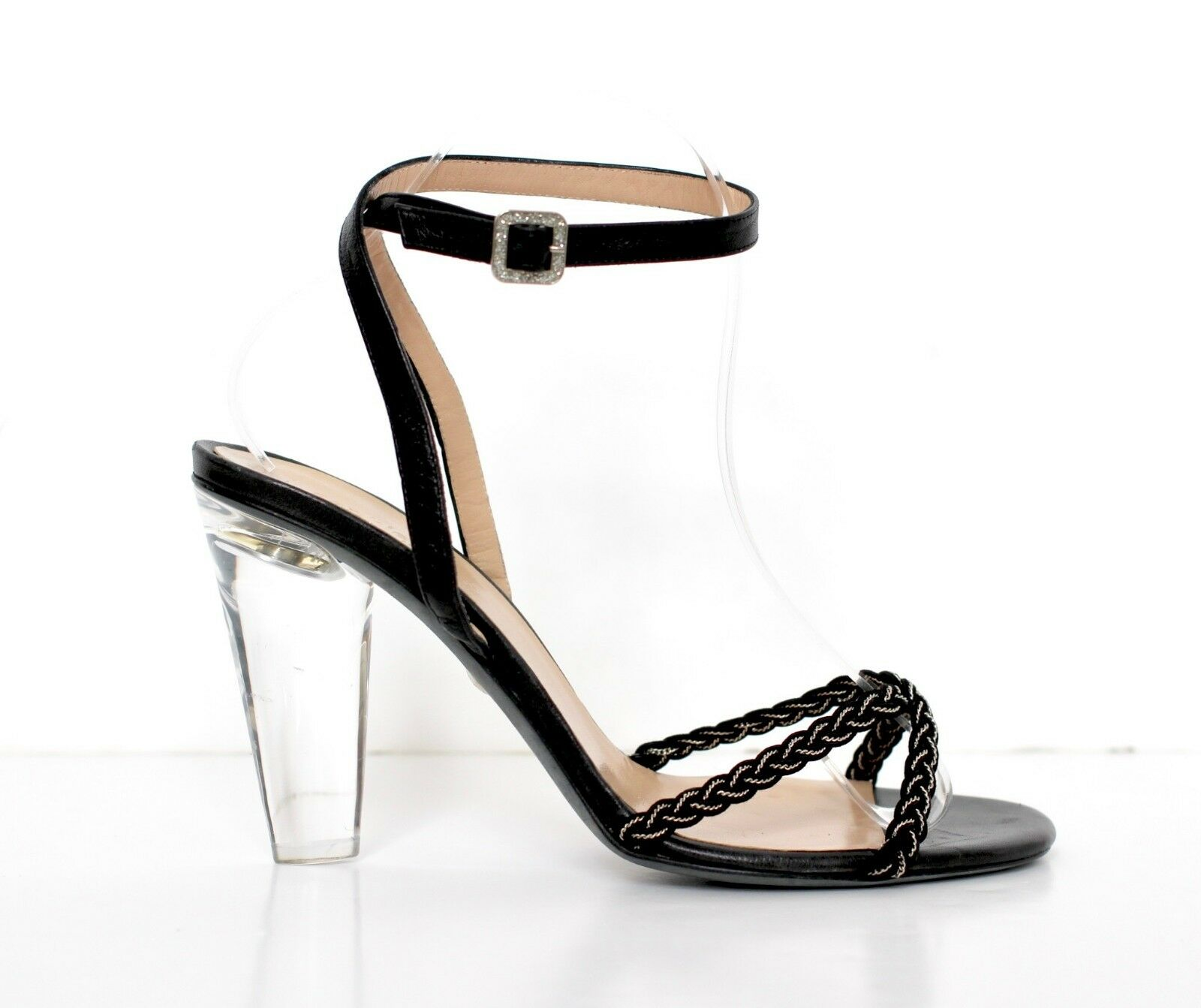 SOPHIE COX Singapore Sling black high heel strappy sandals IT39 UK6 US9