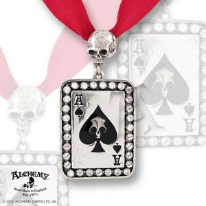 Ace of spades pendant alchemy gothic ul17 tattoo inspired image is loading ace of spades pendant alchemy gothic ul17 tattoo aloadofball Image collections