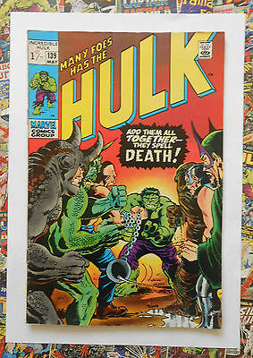 INCREDIBLE HULK #139 - MAY 1971 - THE LEADER APPEARANCE! - FN (6.0) PENCE!