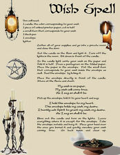 Simple WISH SPELL for Wicca Witchcraft Book of Shadows on Parchment