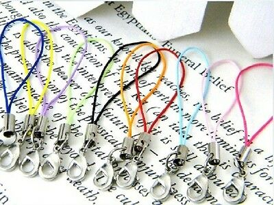 100pcs Mobile Cell Phone Cords Strap Lariat Lanyard Lobster Clasp Mixed colors