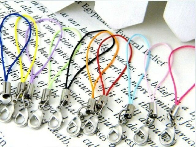 100pcs Mobile Cell Phone cords Strap Lariat Lanyard Lobster Clasp mix colors
