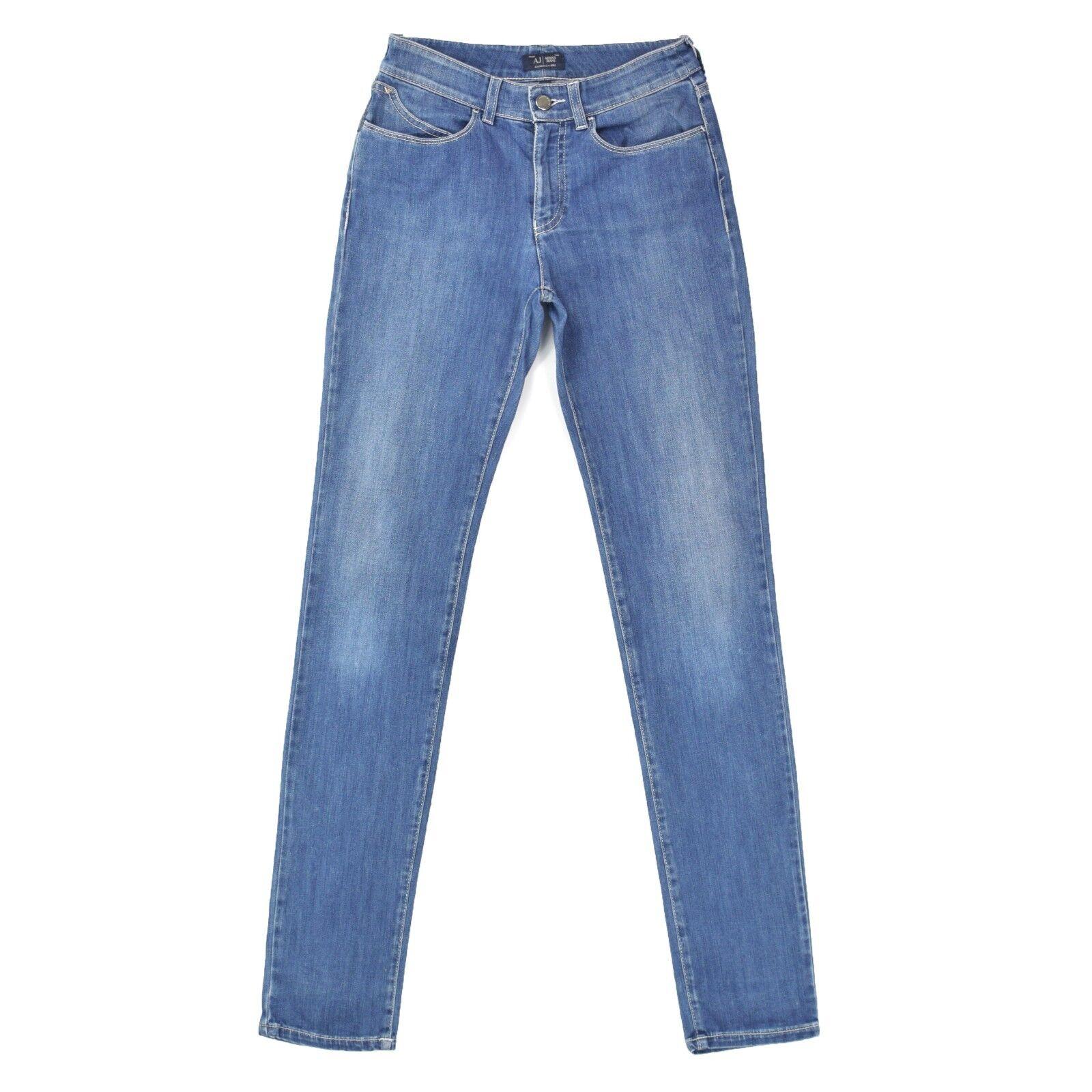ARMANI JEANS Damen Jeans W27 L32 Skinny Strech Hose Women Pants blau wie NEU