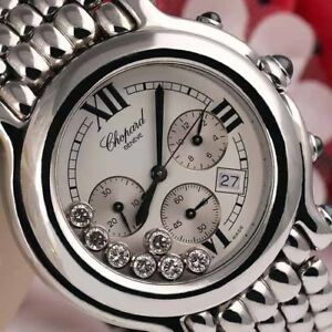 Chopard-Happy-Sport-Chronograph-38mm-SS-Ladies-Watch-White-Dial-288267-3005