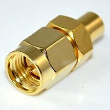 SMA male plug to MCX female jack straight RF Coaxial adapter connector Converto