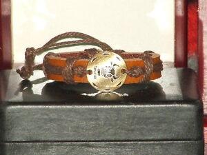 Vintage-Style-Adjustable-Taurus-Leather-Bracelet