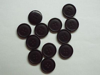 10pc 12mm Rail Grey /& Matt Black Coat Suit Cardigan Knitwear Button 5244