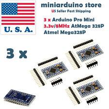 3Pcs Atmega328P Arduino Pro Mini Compatible Board Module 3.3V 8MHz Atmel USA