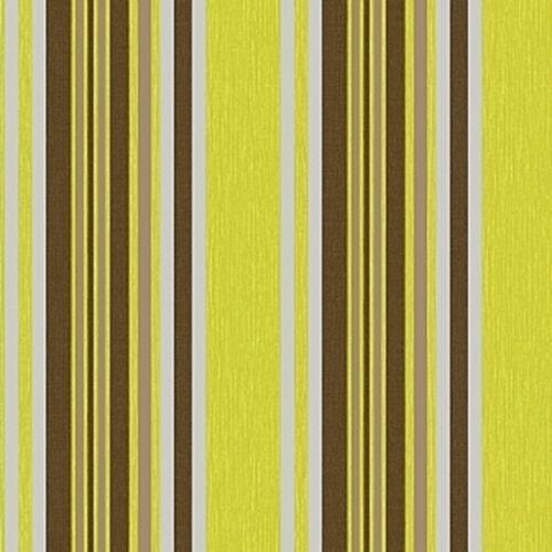 Marrakesh Debona Green Chocolate Brown Stripe Silver Wallpaper Textured 2325