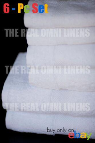 New 6 Piece Luxury Hotel /& Spa Towel Premium Cotton Bamboo White Towels Set