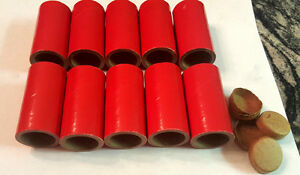 """5 Thick WALLED SALUTE Firework Tubes Shells 1"""" x 2-1/2"""" x 1/8"""" & 10 Paper plugs"""