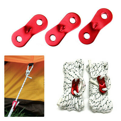 1/5/10X Alloy Red Tent Awning Cord Rope Fastener Guy Line ...