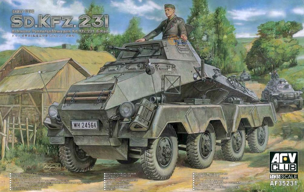 mejor calidad mejor precio Afv Club 1 35 Schwere Panzerspahwagen Sd.Kfz.231 8-Rad Presto Tipo Tipo Tipo  AF35231  despacho de tienda