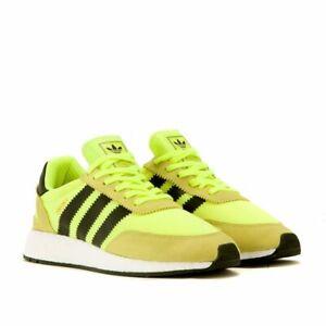 Homme-Adidas-Iniki-Runner-solaire-BB2094-Jaune-Volt-Sz-7-13-DS-Boost-Entierement-neuf-dans-sa-boite