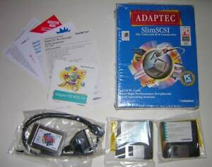 Adaptec-SlimSCSI-PCMCIA-SCSI-Adapter-PC-Card-1460A-with-Cable-amp-Software-NEW