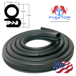 12-feet-Rubber-Car-Door-Seal-Weatherstrip-Body-Mounted-Front-Left-or-Right