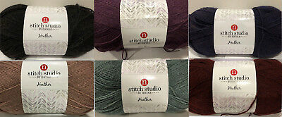 Stitch Studio Earthtone Tweed Look Yarn #4 Worsted 280g Easy Care Color Choice
