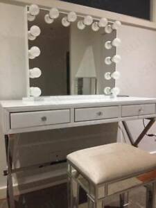 L White Hollywood Makeup Mirror With Led Lights Vanity