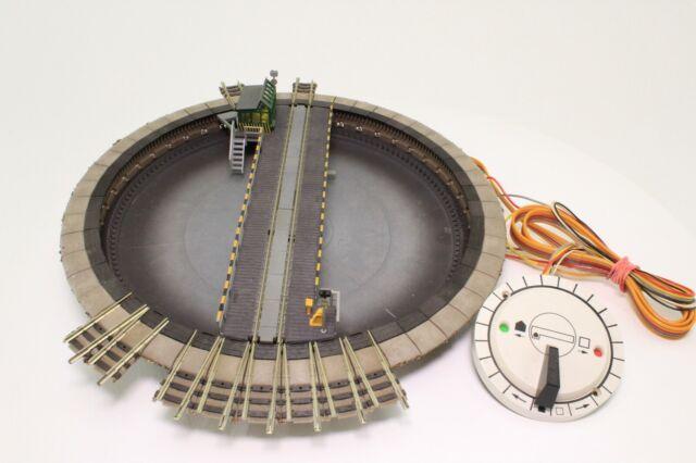 Fleischmann 9152C Spur N elektrische Drehscheibe mit Schalter in OVP