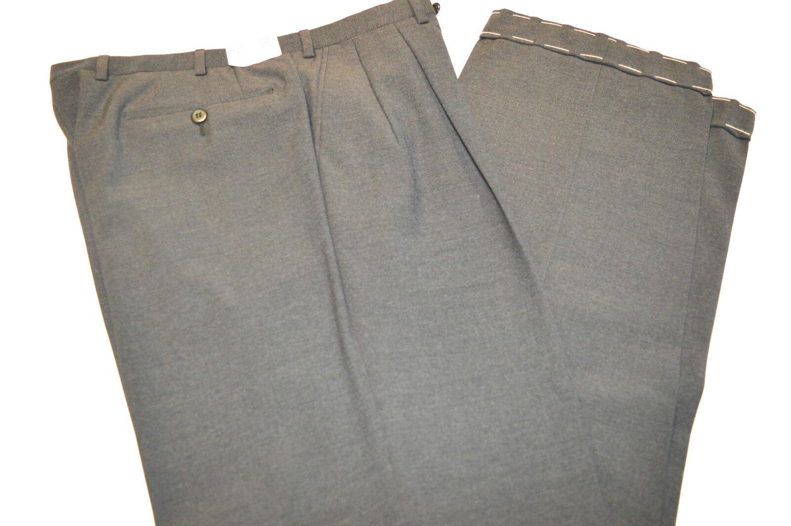 New BRIONI Mod Delta Trouser 100%Wool Dress Pant Size 33 Us 49 Eu (Cod 46)