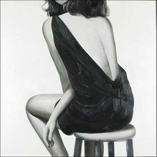Atelier B Pretty Woman Keilrahmen-Bild Leinwand Frau Kleid Fashion Rücken Mode