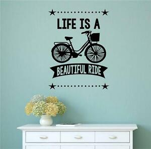 Life is a beautiful ride vinyl decal wall stickers words for Life is good home decor