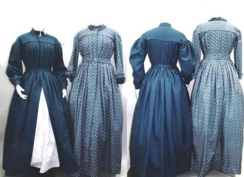 Dress Wrapper Morning Gown Civil War Era Laughing Moon Sewing Pattern Lmm120