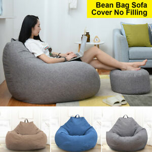 Cool Details About Adults Kid Large Bean Bag Chair Sofa Couch Cover Indoor Lazy Lounger No Filler Creativecarmelina Interior Chair Design Creativecarmelinacom