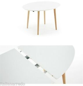 Tavolo ovale allungabile bianco tortora 120 200x90 design for Tavolo ovale bianco design