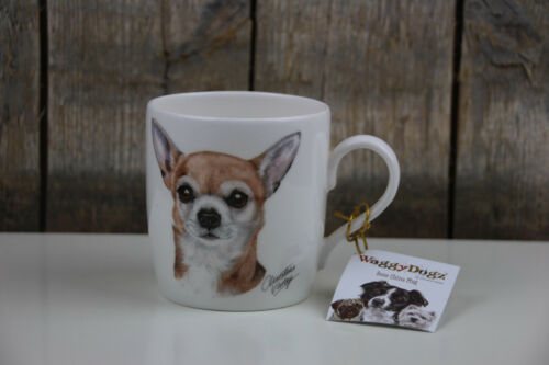 Chihuahua Kaffee Becher // Tasse Bone China Mug Hunde 350 ml Waggy Dogz