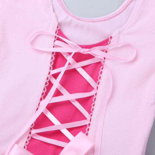 Toddler Girls Ballet Leotard Dance Dress Gymnastics Tutu Skirt Fancy Dancewear