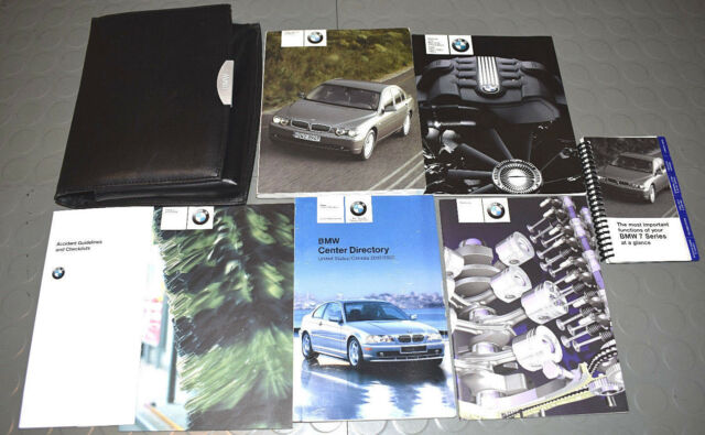 2003 bmw 745i 745li 760li owners manual set ebay rh ebay com bmw 745i manual 2004 bmw 745li manual