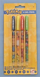 Pokemon-lot-de-4-stylos-couleur-gel-Papeterie-Enfant-neuf-sous-emballage