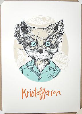 Tyler Stout Fantastic Mr Fox Kristofferson Handbill Screen Print Poster 5 X 7 Ebay