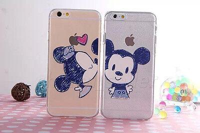 Cartoon Mickey Minnie Crystal Soft TPU Clear Gel Case Cover F iPhone 6/6 plus 5S