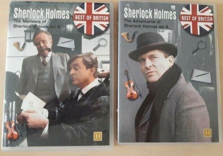 3 x box Sherlock Holmes, DVD, krimi