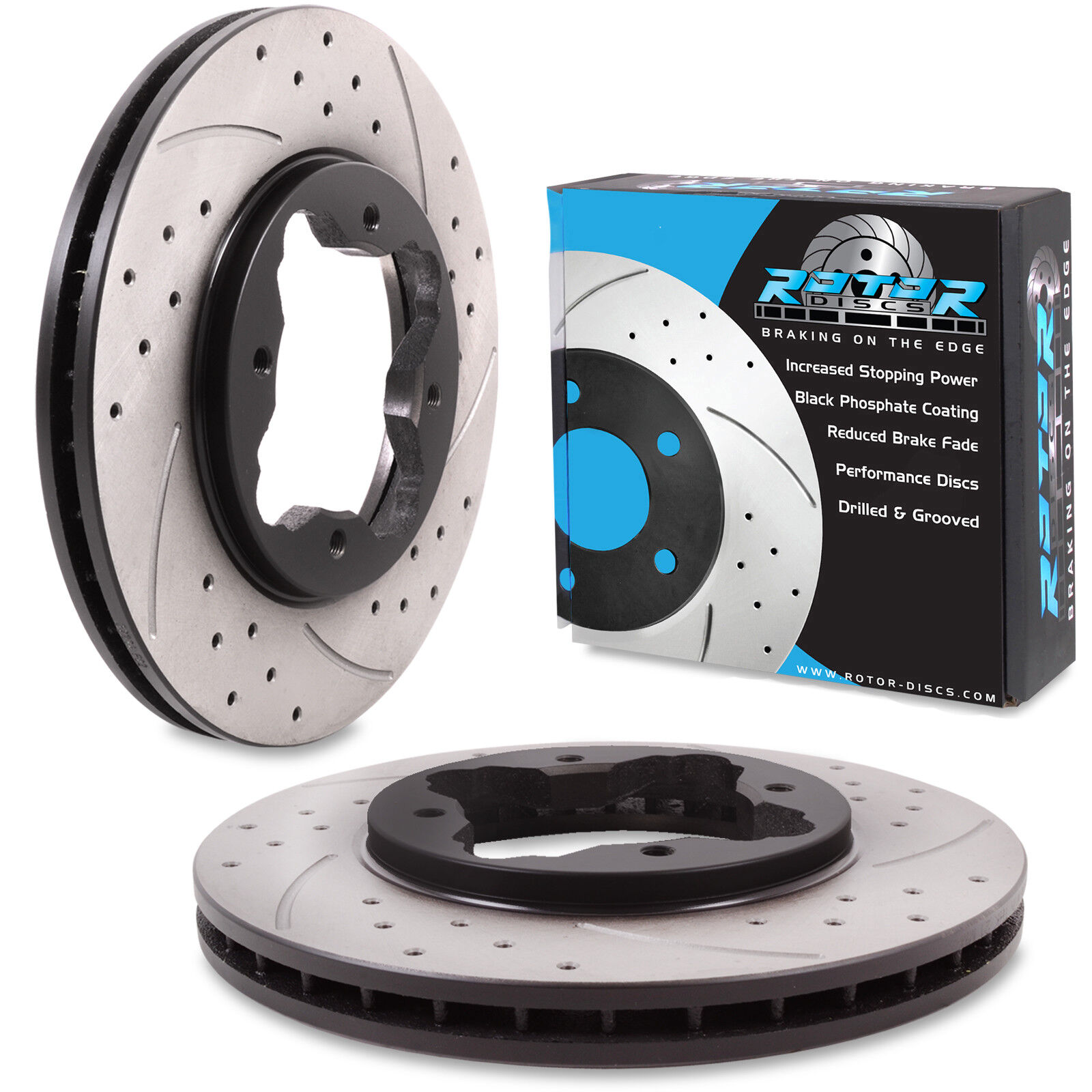 Honda Prelude 2.0 BB3 92-97 Front Drilled and Grooved Brake Discs 260mm