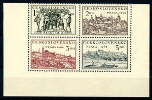 Tschechoslowakei-4er-Block-Eckrand-MiNr-630-33-postfrisch-MNH-C893