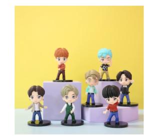 7pcs/set BTS RM Jin Suga JHope Jimin V Jungkook Doll Toy Figure BANGTAN boys